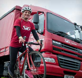 SIG Lorry and Cyclist